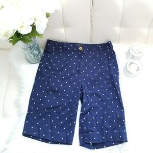Jones New York signature navy blue star pants